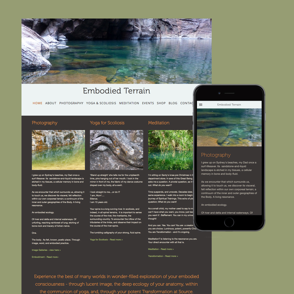 narelle carter quinlan photography website design