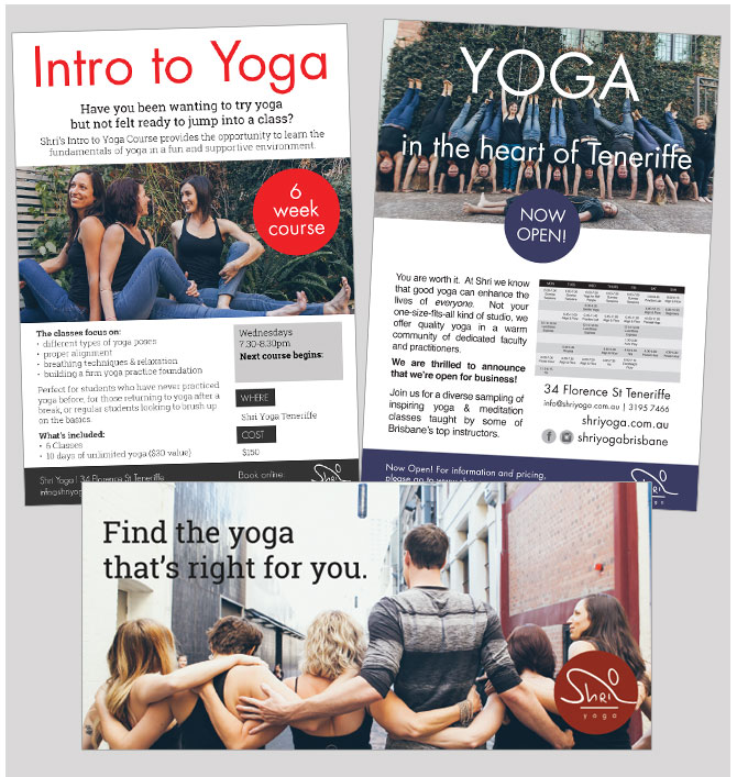 shri yoga flyer design