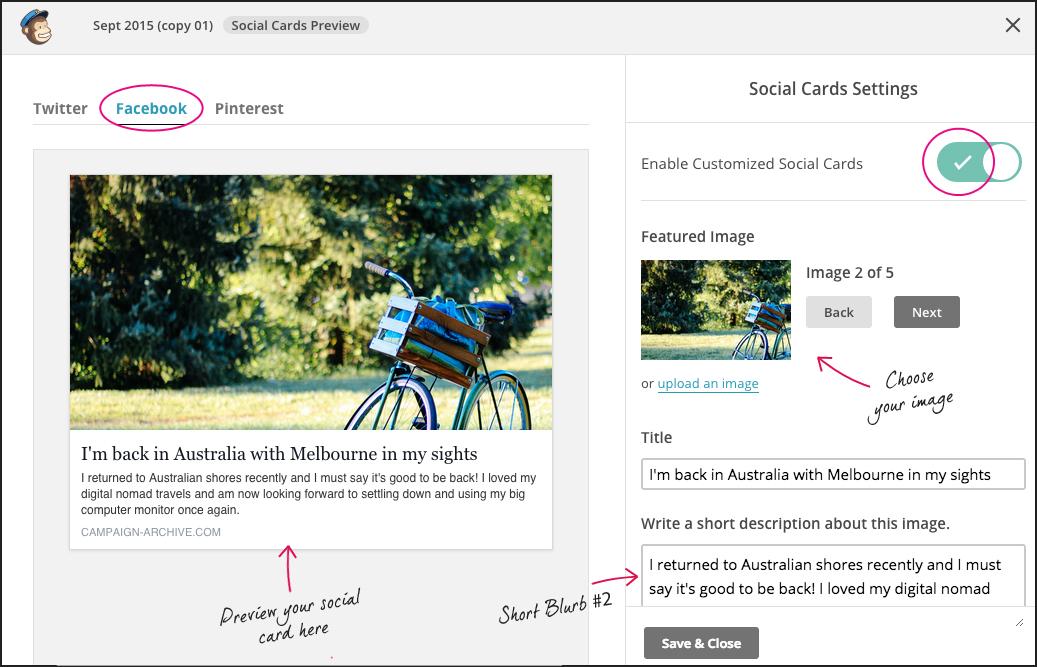 mailchimp social card