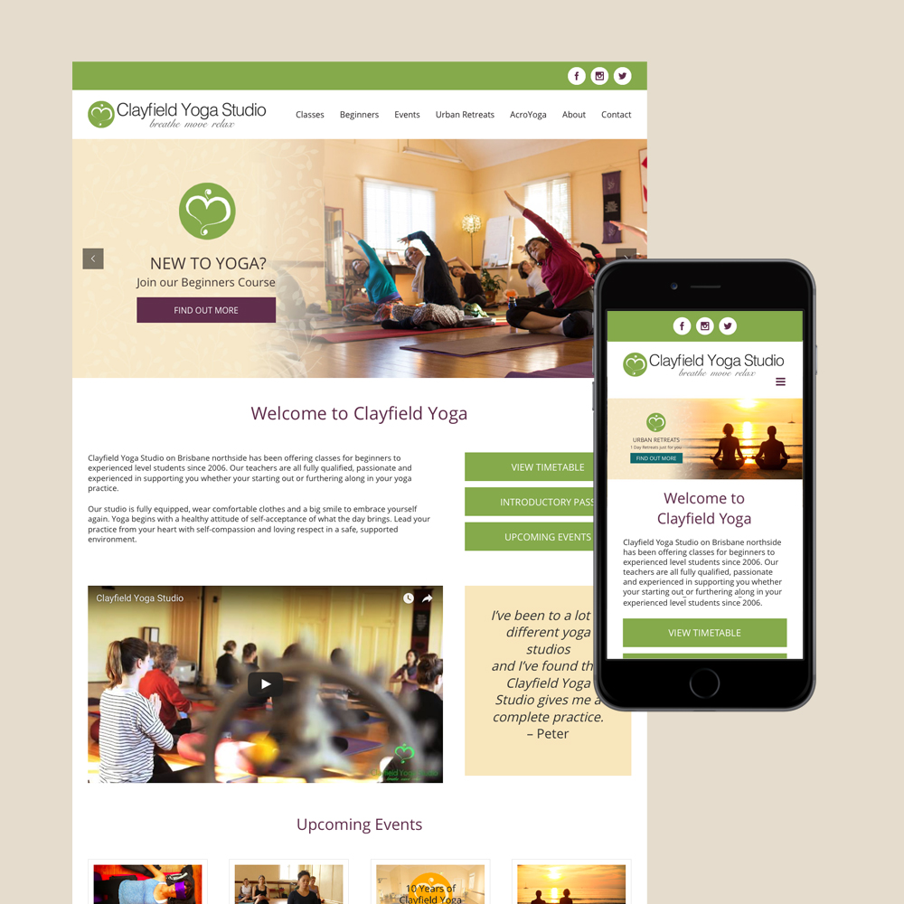 clayfield yoga studio website