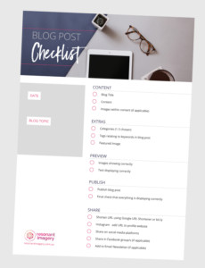 blog post checklist download