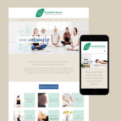 kundalini house website design melbourne