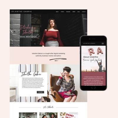 iolanthe gabrie website design