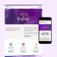 zig zag website design
