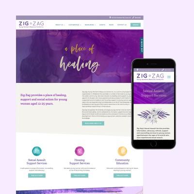 zig zag website design