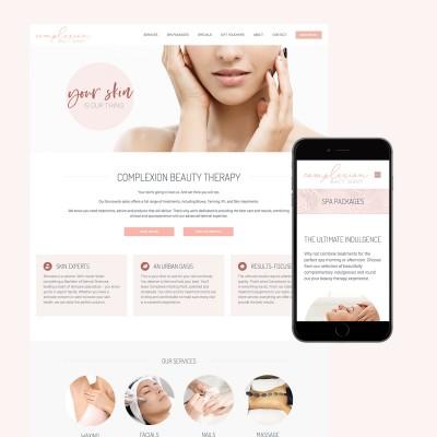 complexion beauty website design